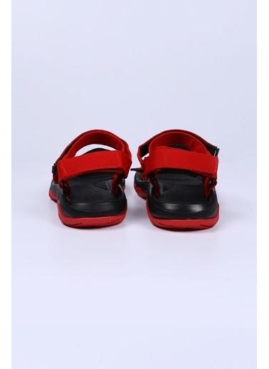 Female Project Kırmızı-Siyah Cırtlı Sandalet Siyah